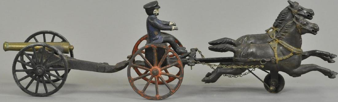 WILKINS HORSE DRAWN CART W/ CANNON