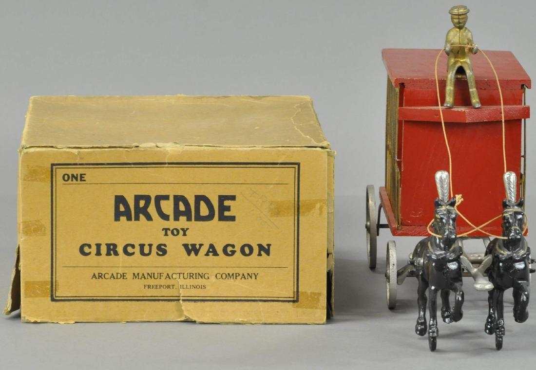 BOXED ARCADE CIRCUS WAGON