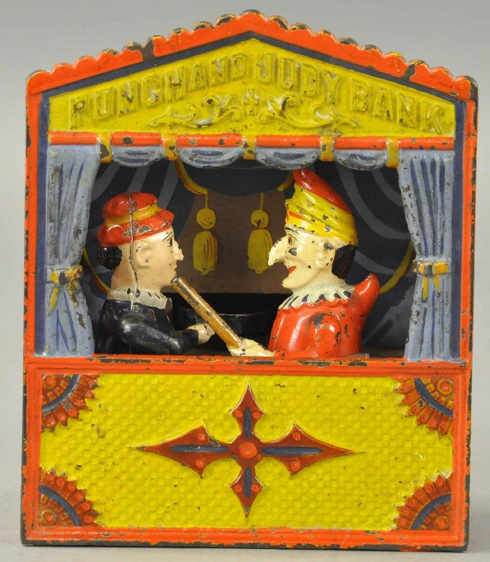 PUNCH AND JUDY IRON MECHANICAL BANK