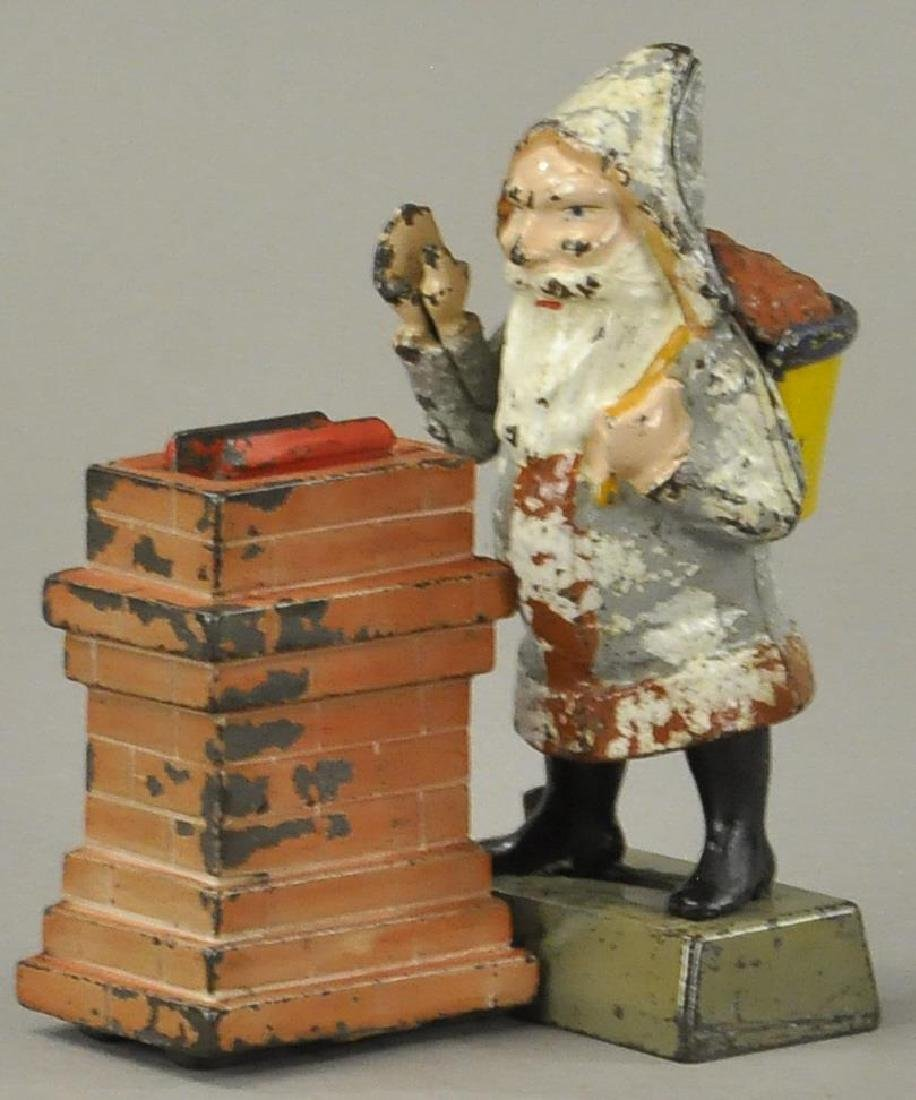 SANTA AT CHIMNEY MECHANICAL BANK