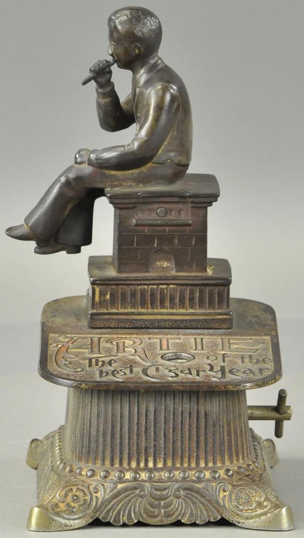 ARTIE FIGURAL CLOCKWORK CIGAR CUTTER