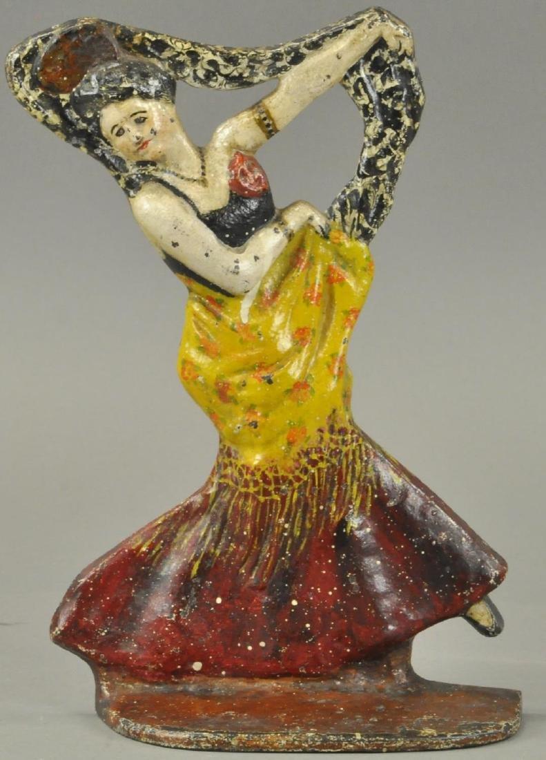 SPANISH FLAMENCO WOMAN DANCER DOORSTOP