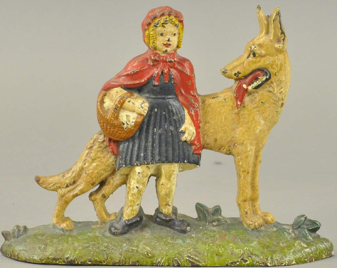 LITTLE RED RIDING HOOD AND WOLF DOORSTOP