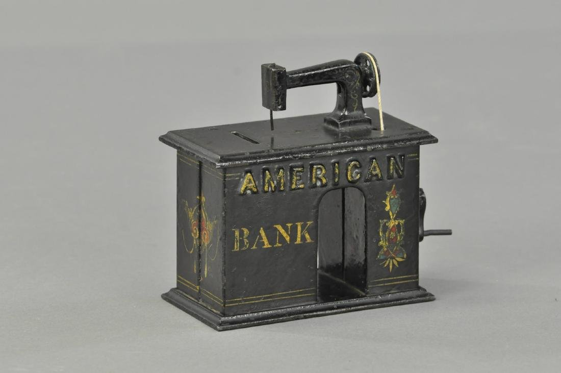 AMERICAN SEWING MACHINE MECHANICAL BANK