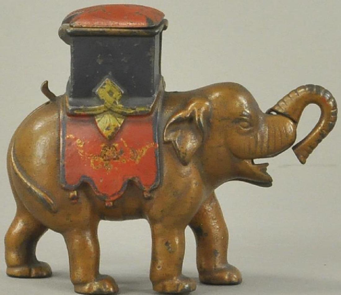 ELEPHANT HOWDAH - MAN POPS OUT BANK