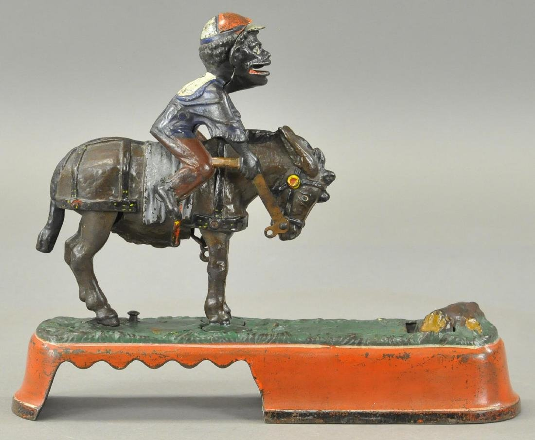 SPISE A MULE IRON MECHANICAL BANK