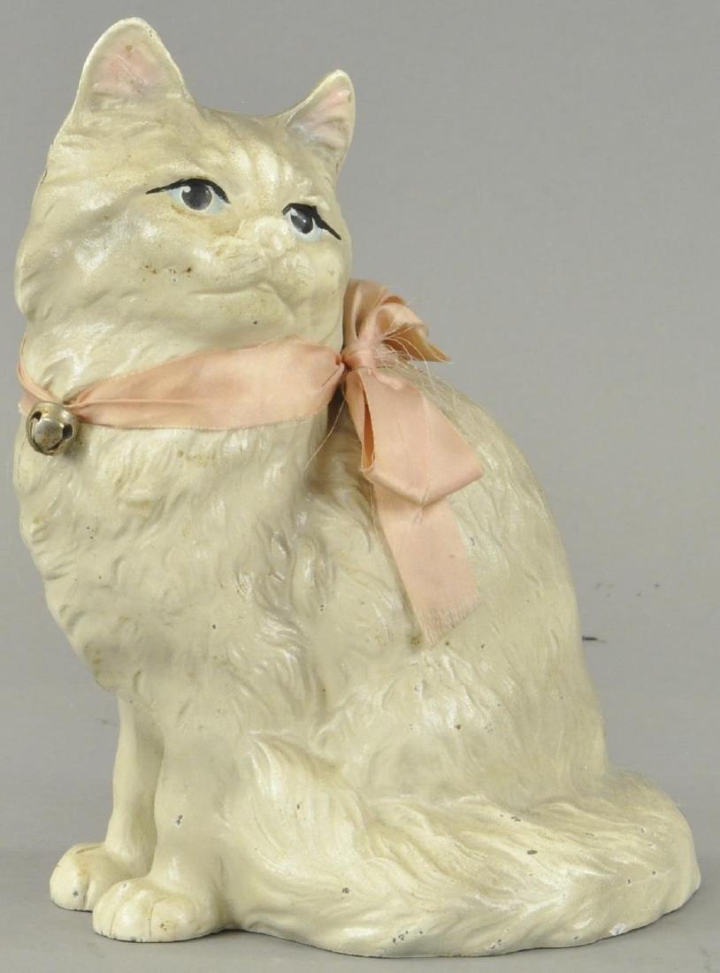SITTING PERSIAN CAT DOORSTOP