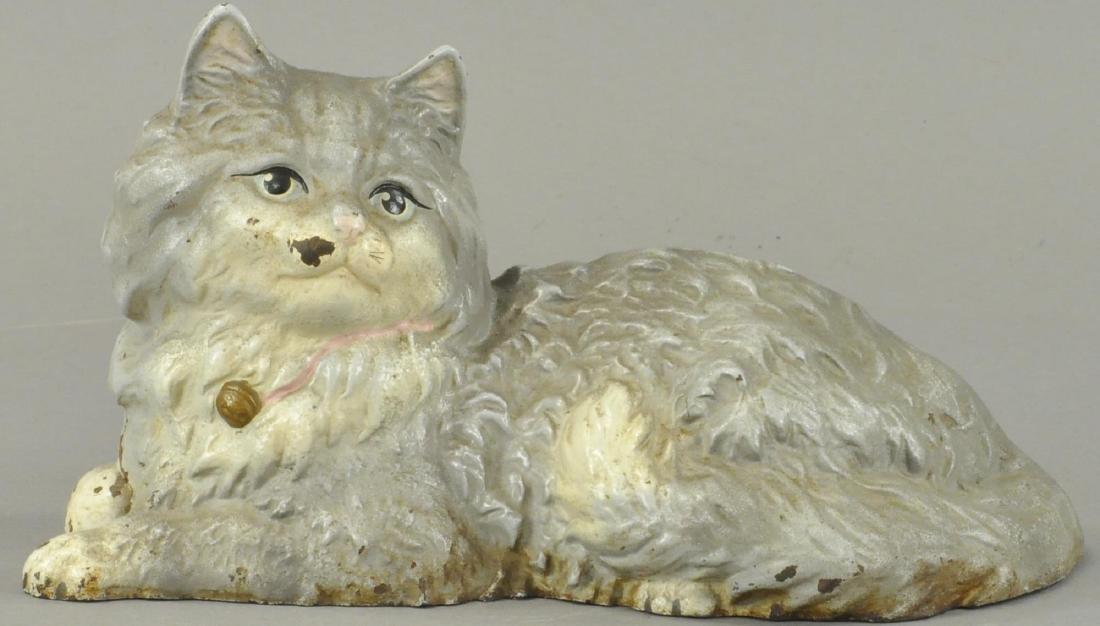 RECLINING PERSIAN CAT DOORSTOP
