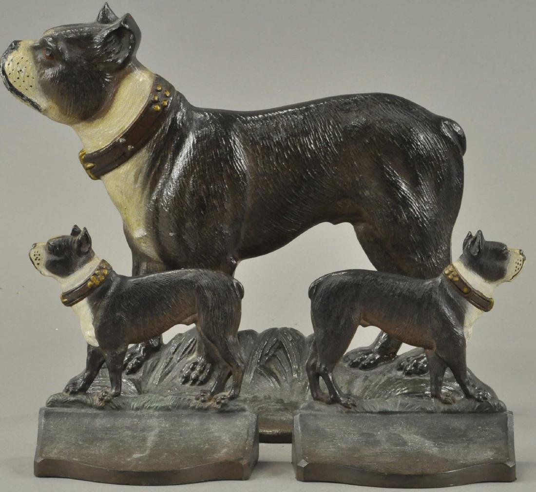 B&H STANDING TERRIER DOORSTOP & MATCHING BOOKENDS