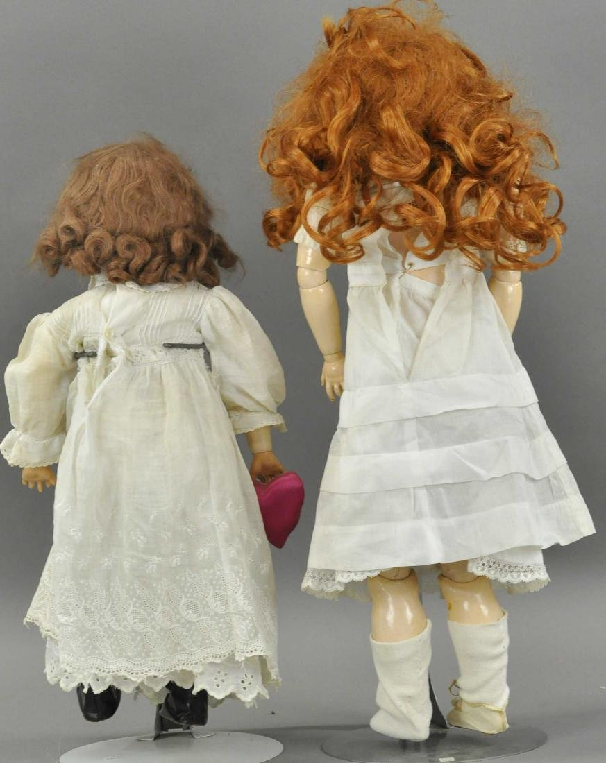 LOT OF TWO GERMAN BISQUE HEAD DOLLS - 2