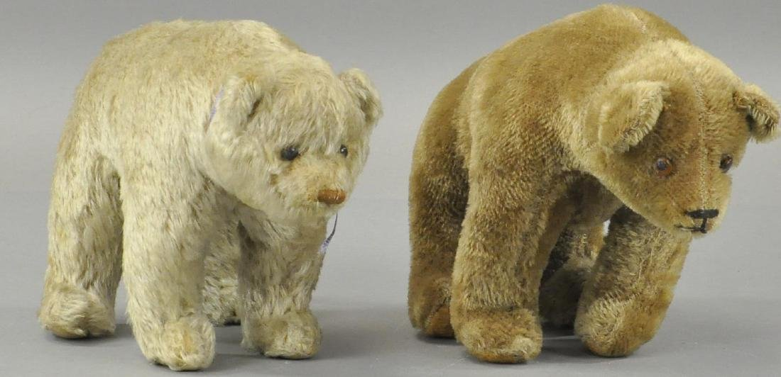 "LOT OF TWO MOHAIR BEARS ""ON ALL FOURS"""