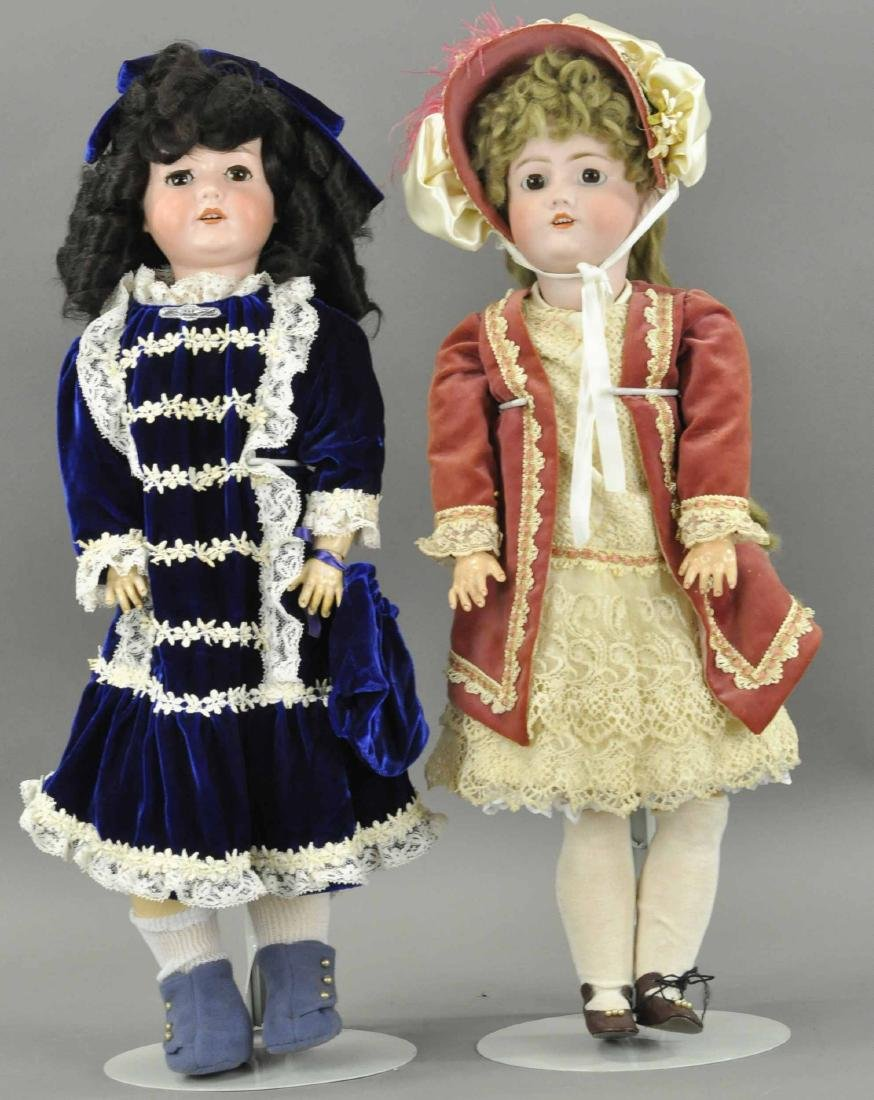 LOT OF TWO GERMAN BISQUE DOLLS