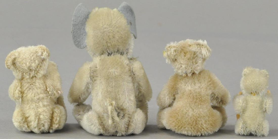LOT OF FOUR MINIATURE STUFFED ANIMALS - 2