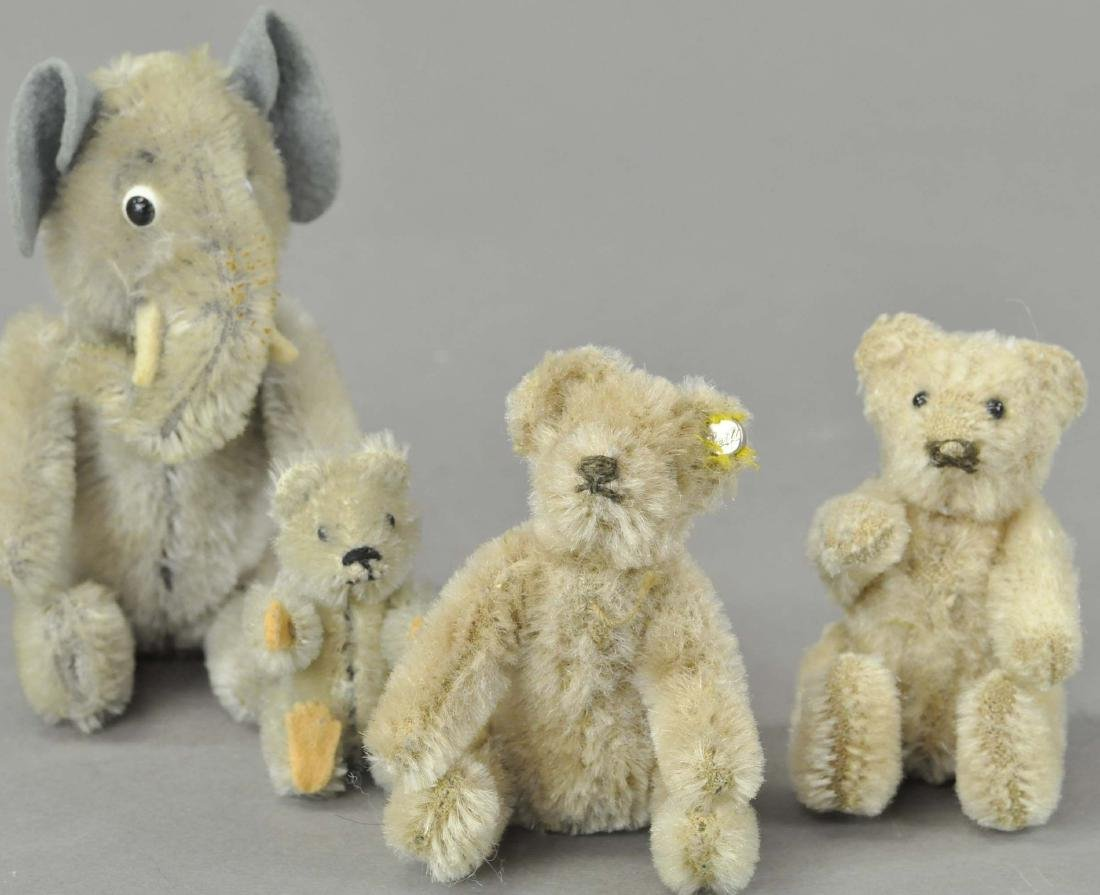 LOT OF FOUR MINIATURE STUFFED ANIMALS - 4
