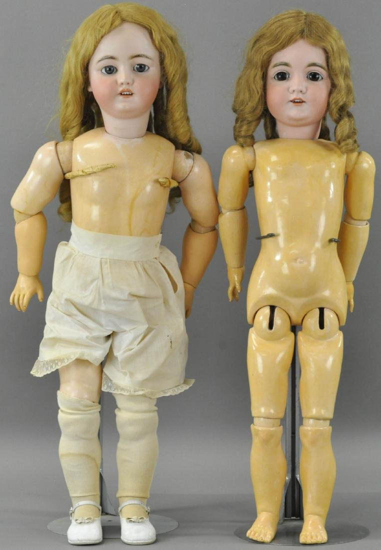 LOT OF TWO LARGE GERMAN CHILD DOLLS