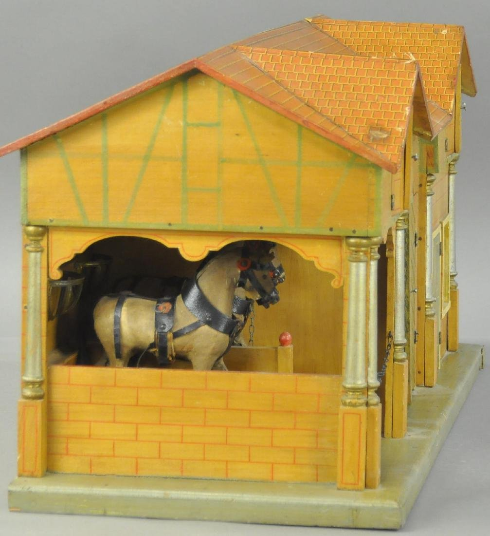LARGE EARLY WOODEN STABLE - 3