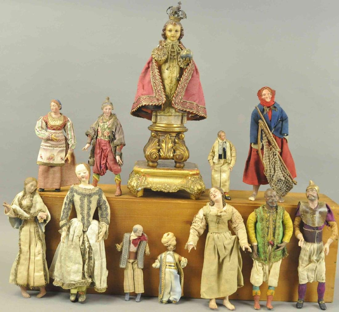 CHRIST CHILD AND NEOPOLITAN FIGURES