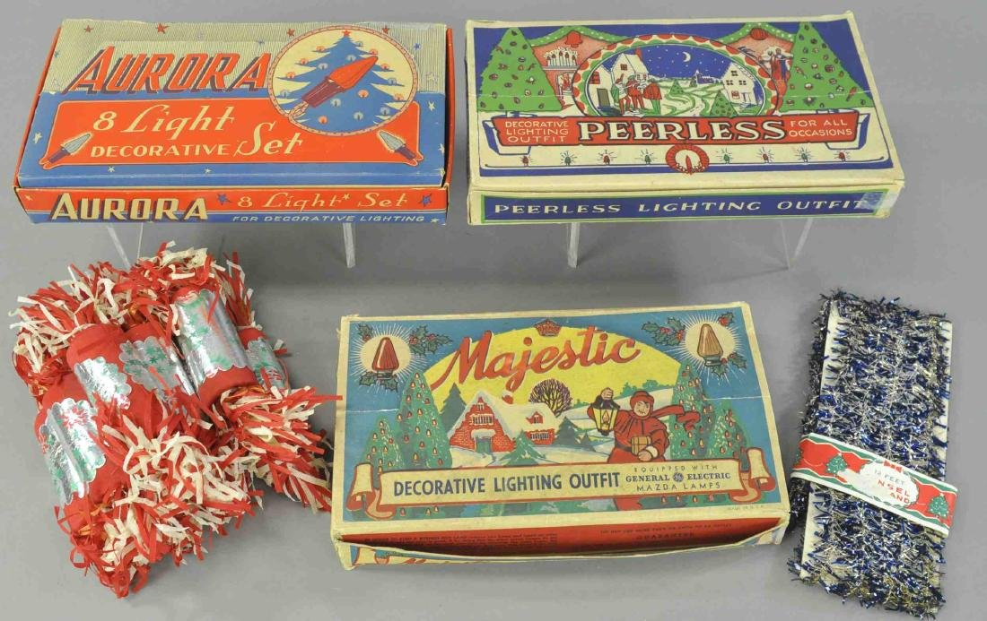 LIGHT SETS, SET OF CRACKERS AND BLUE TINSEL - 2