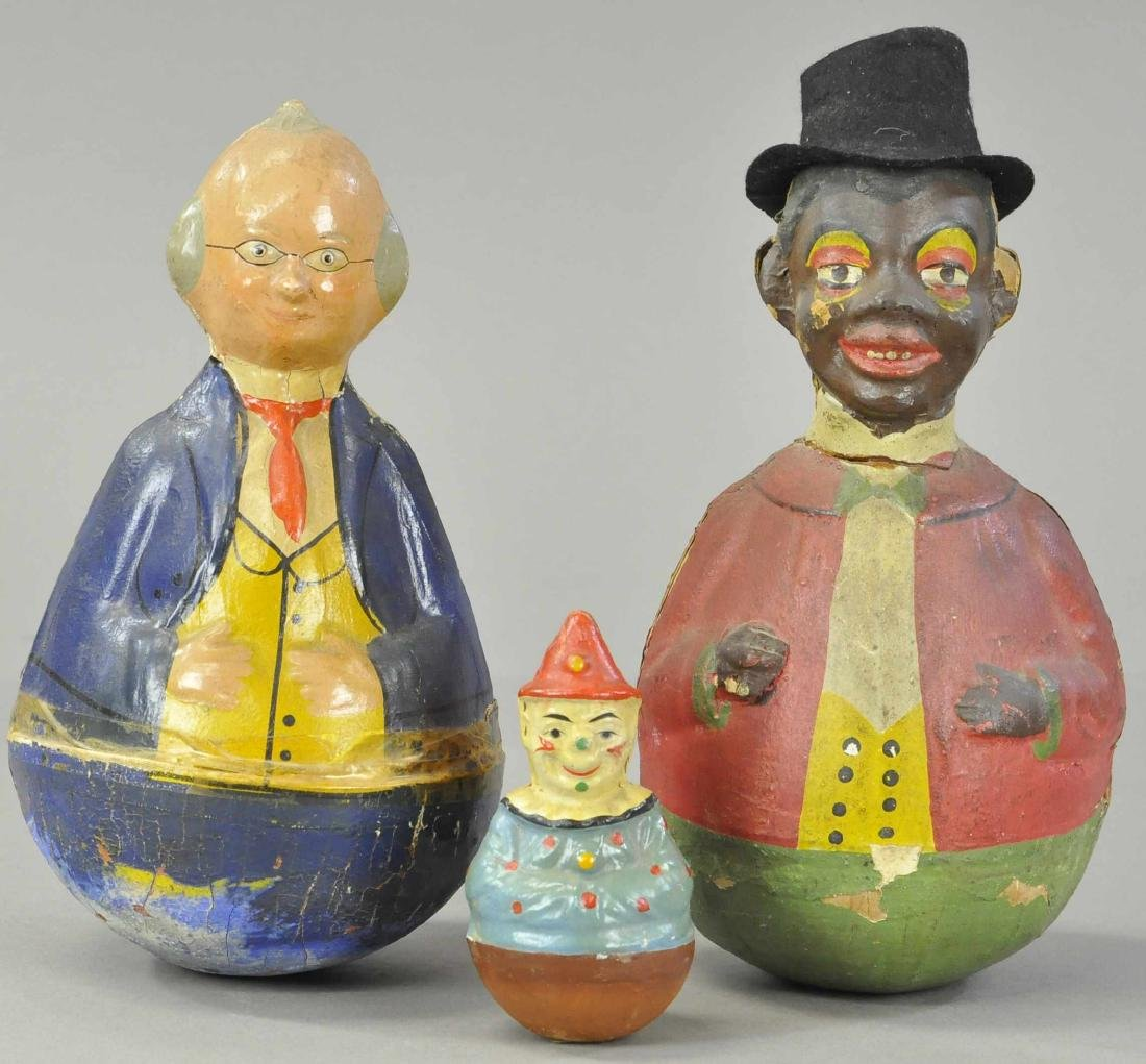 THREE ROLY POLY FIGURES