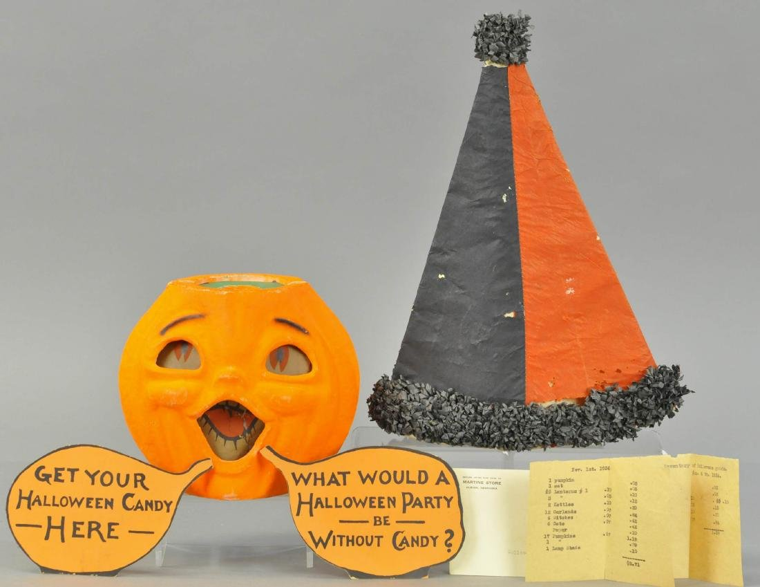 GROUP OF HALLOWEEN SALES STIMULATORS FROM 1936 DIS