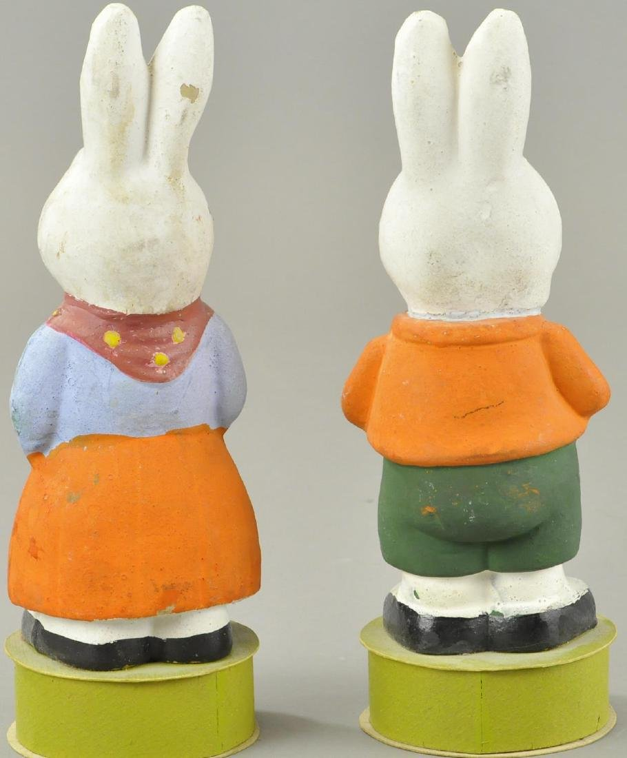 TWO EASTER BUNNY CANDY CONTAINERS - 2