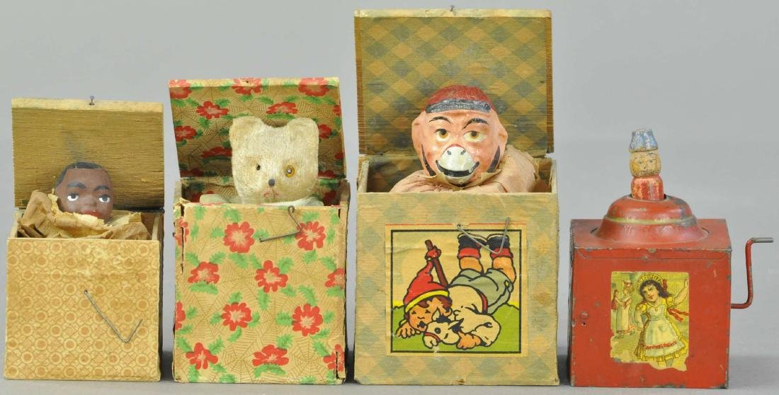 GROUPING OF FOUR JACK-IN-THE-BOX TOYS