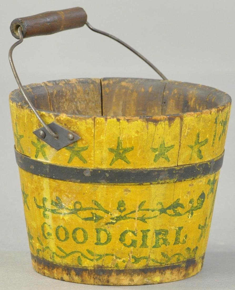 PRIMITIVE WOOD SAND PAIL