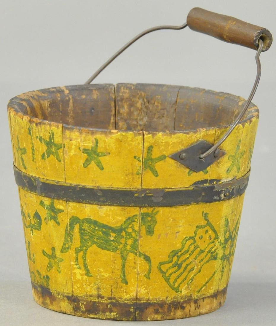 PRIMITIVE WOOD SAND PAIL - 2