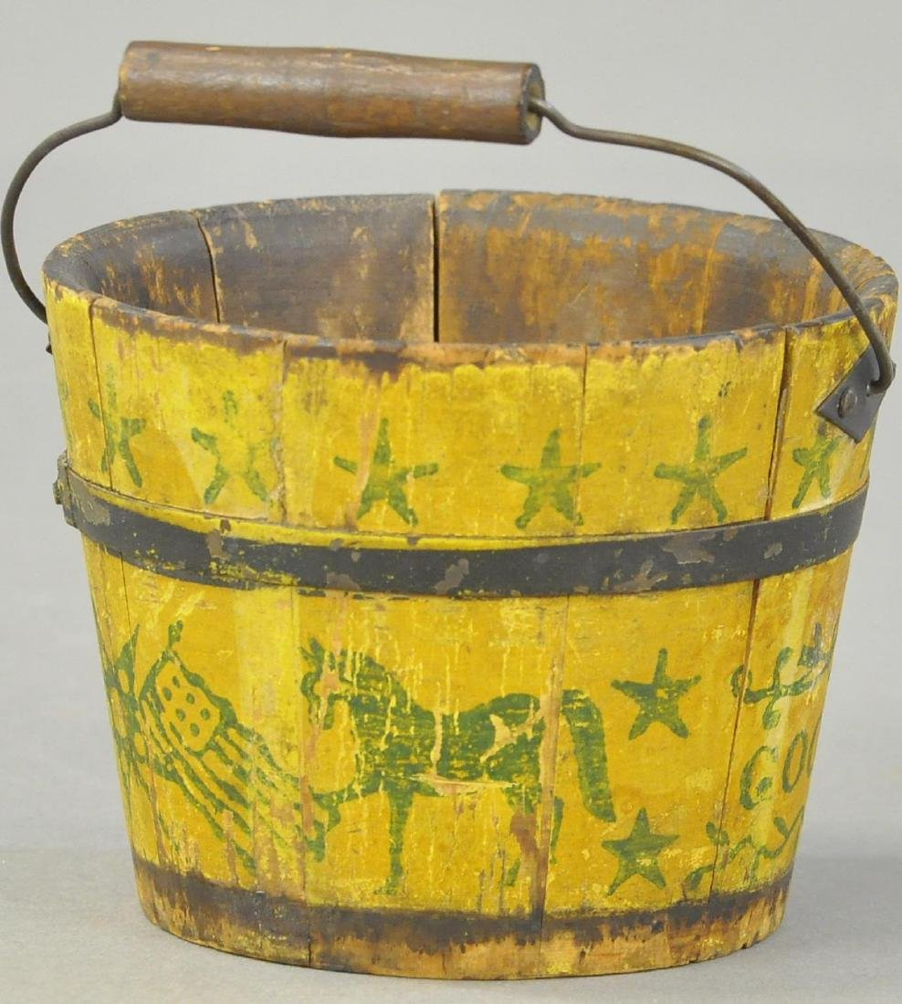 PRIMITIVE WOOD SAND PAIL - 3