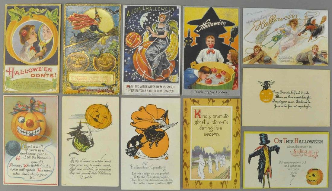 ELEVEN EARLY HALLOWEEN POSTCARDS