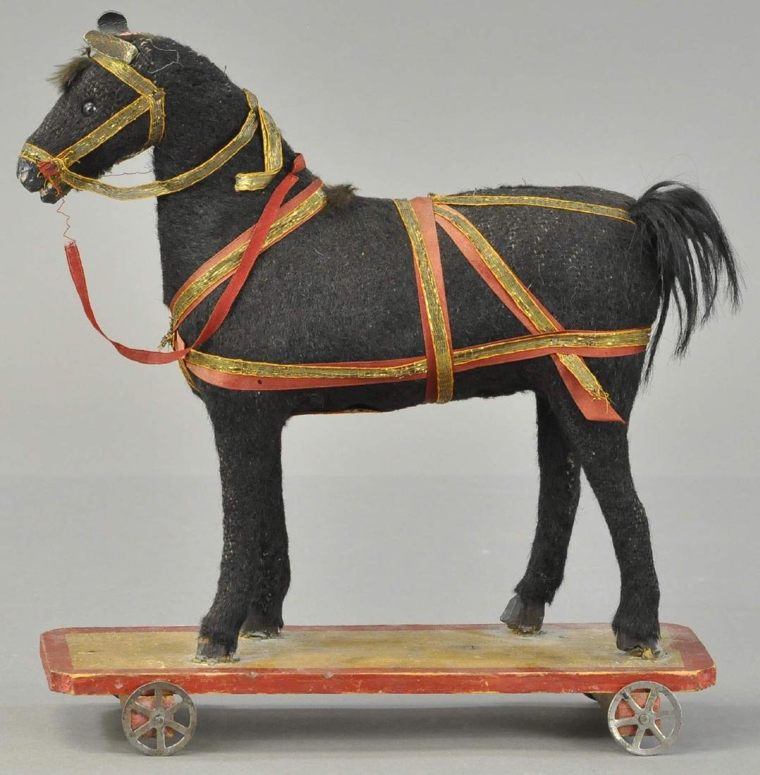 PLATFORM PULL TOY HORSE W/HARNESS - 2