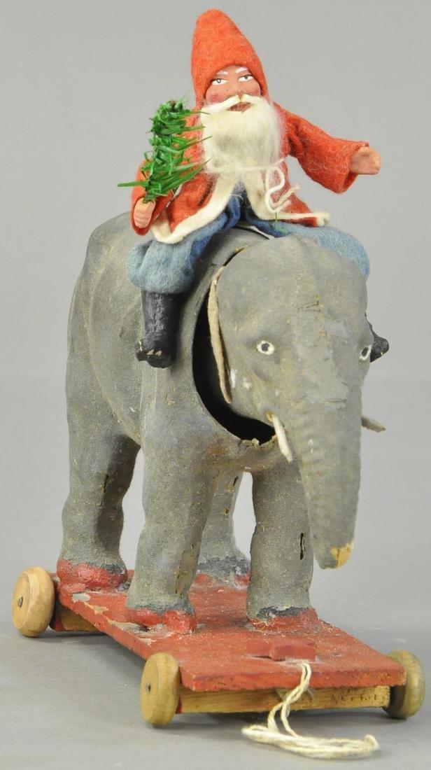 SANTA ON ELEPHANT PULL TOY