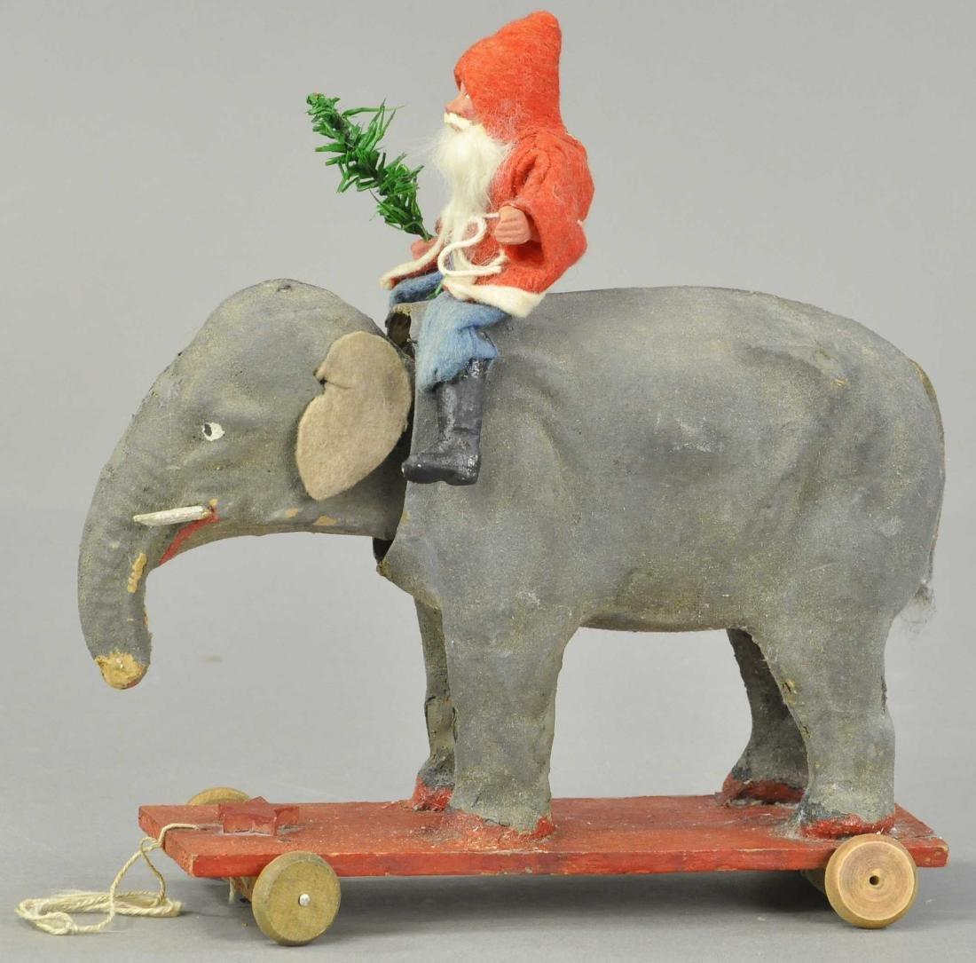 SANTA ON ELEPHANT PULL TOY - 2