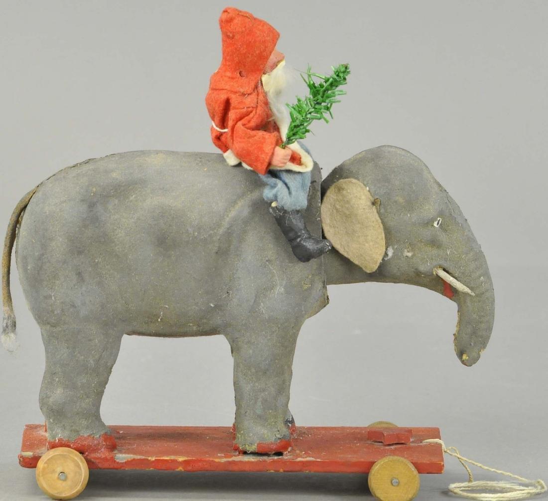 SANTA ON ELEPHANT PULL TOY - 3