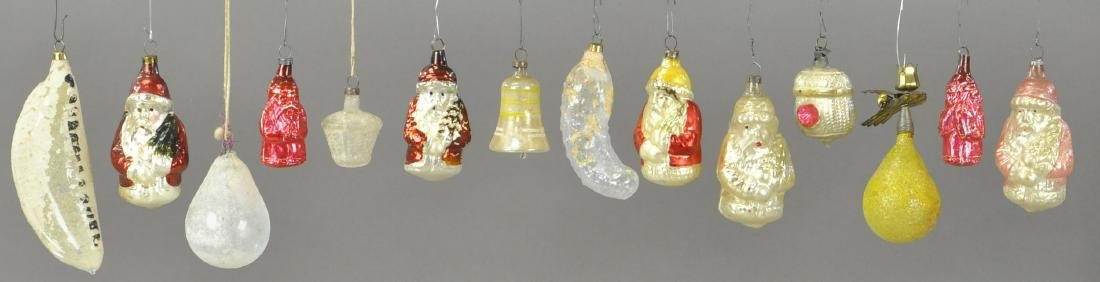 GROUPING OF FOURTEEN GERMAN GLASS ORNAMENTS