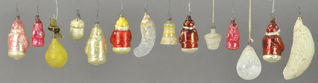 GROUPING OF FOURTEEN GERMAN GLASS ORNAMENTS - 2