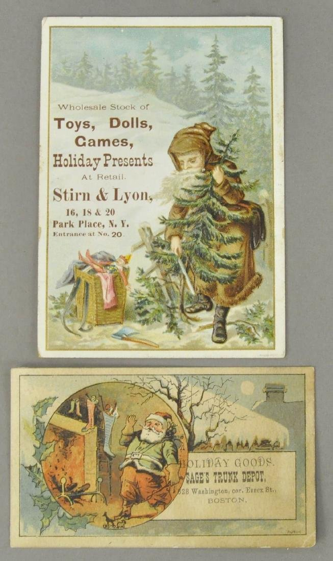 TWO SANTA CLAUS VICTORIAN TRADE CARDS