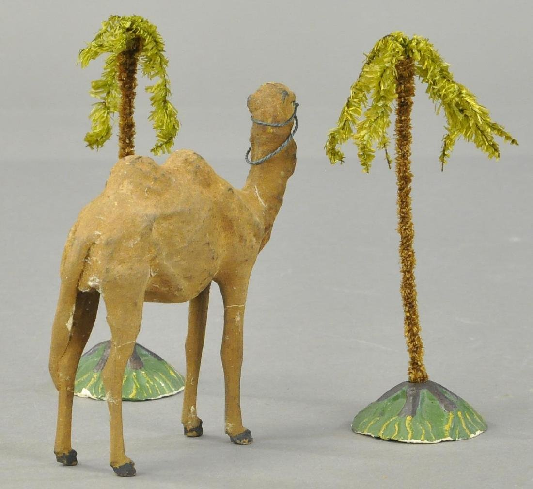 TWO PALM TREE AND A CAMEL - 2