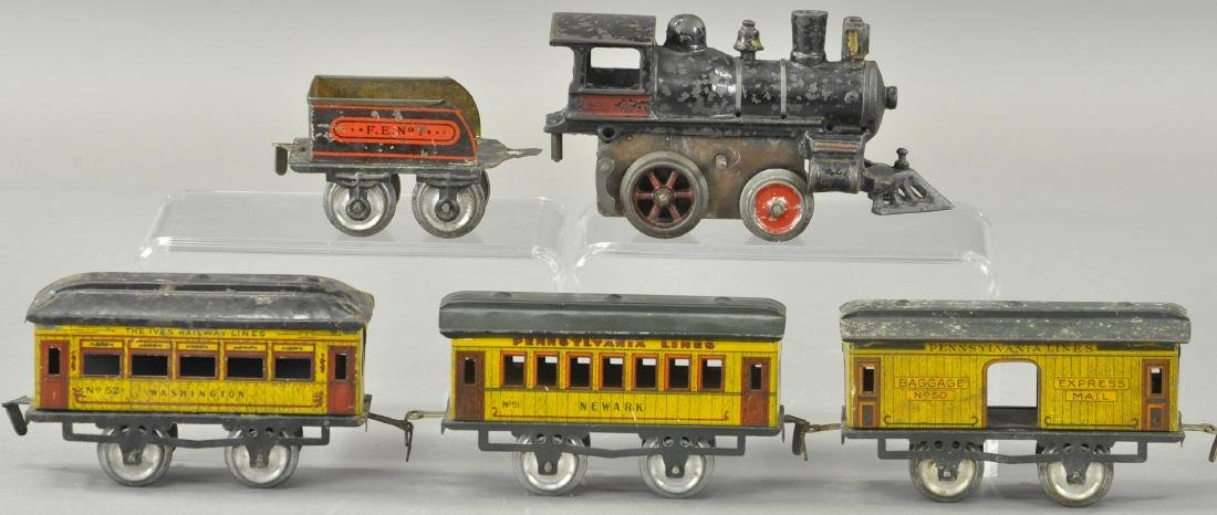 EARLY IVES PASSENGER SET