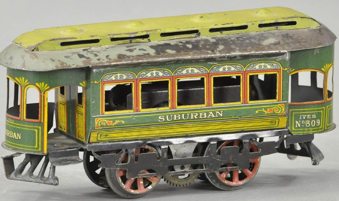 IVES NO. 809 ELECTRIC SUBURBAN TROLLEY - 2