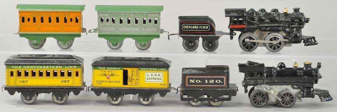 TWO WIND-UP AMERICAN FLYER PASSENGER SETS