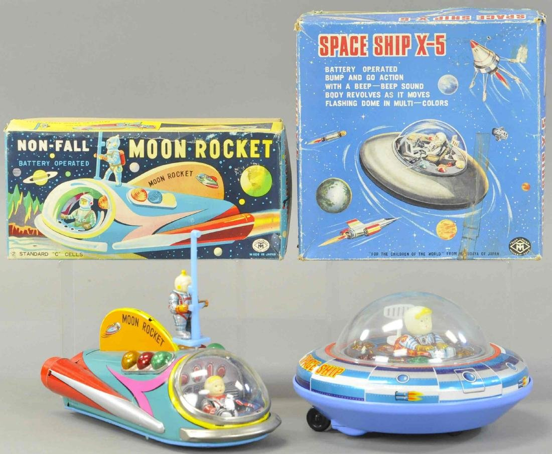 MODERN TOYS MOON ROCKET AND SPACE SHIP X-5