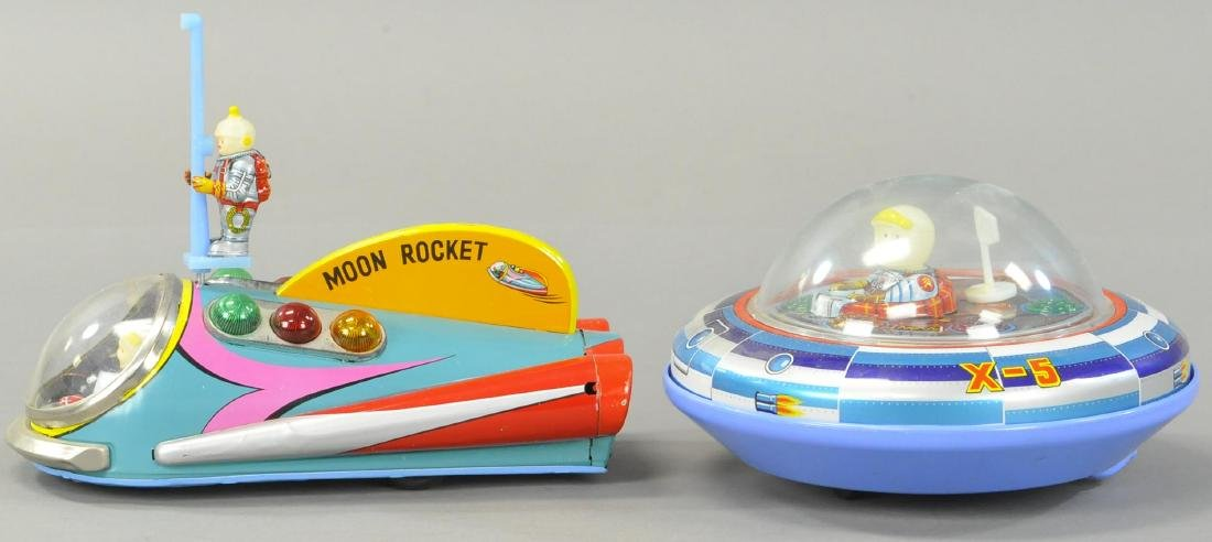 MODERN TOYS MOON ROCKET AND SPACE SHIP X-5 - 2