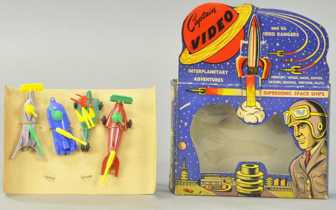 LIDO TOY CO. CAPTAIN VIDEO SUPERSONIC SPACE SHIPS