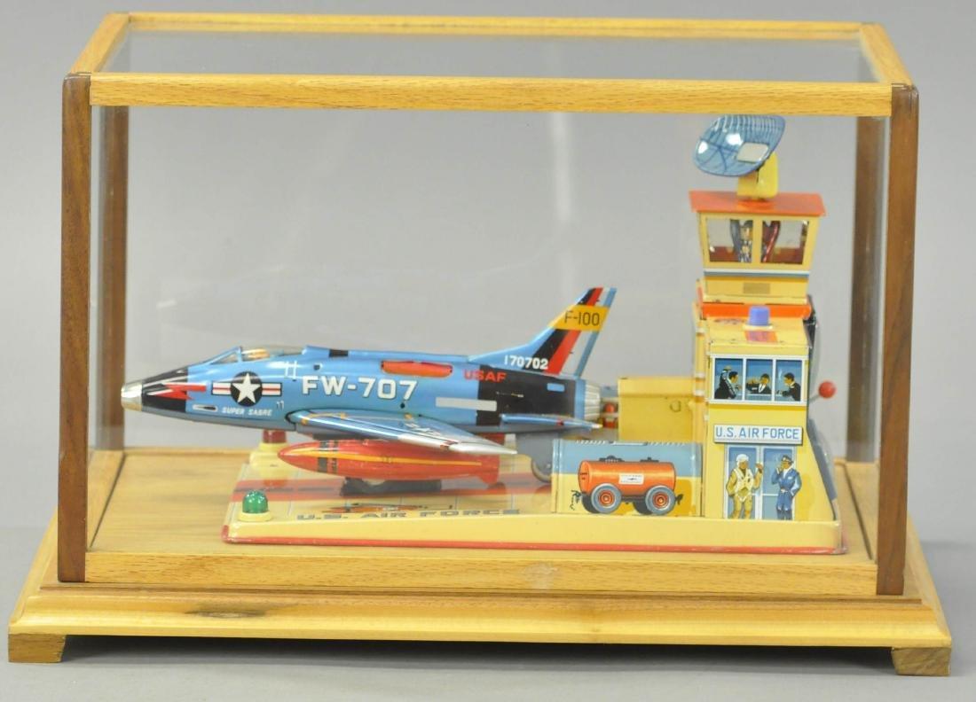 YONEZAWA FW-707 JET PLANE AND BASE - 3