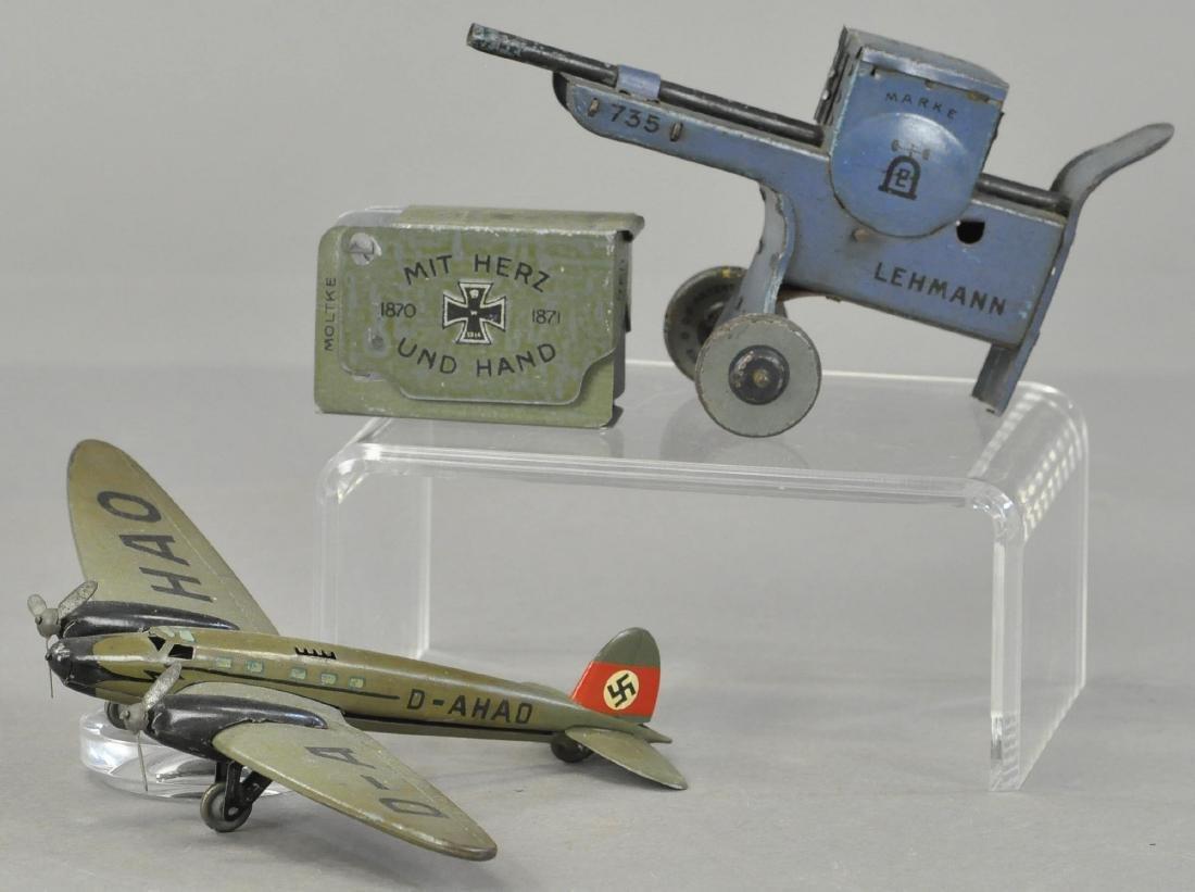 LEHMANN BOMBER PLANE AND MACHINE GUN