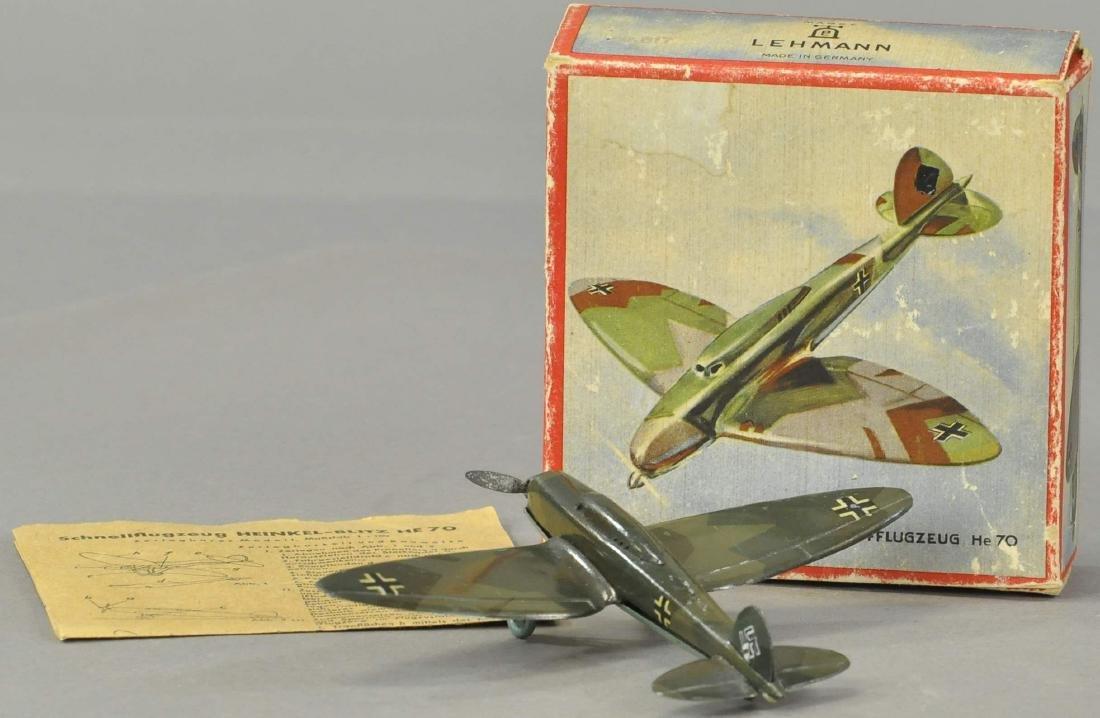 BOXED LEHMANN BOMBER AIRPLANE