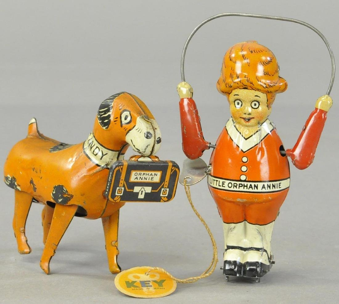 PAIR OF SANDY AND ORPHAN ANDY TOYS