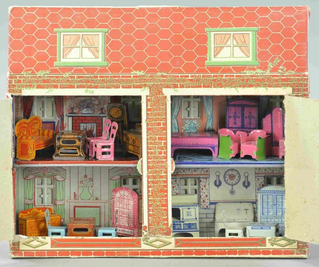 INTERESTING MARX NEWLY WEDS HOUSE DISPLAY X4
