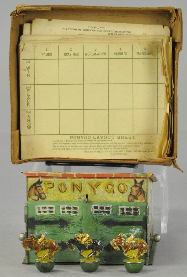 PONY GO HORSE RACE GAME W/ PARTIAL BOX - 2